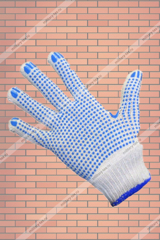 Увеличить - Перчатки трикотажные с ПВХ