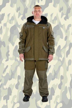 """Костюм """"ГОРКА-5"""" на ФЛИСЕ ткань палаточное полотно+Rip-Stop (ХАКИ)"""