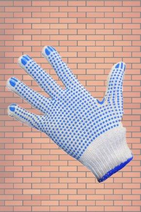 Перчатки трикотажные с ПВХ