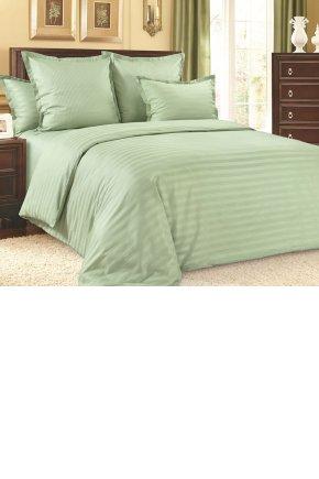Постельное белье сатин-страйп Зеленый