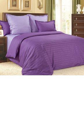 Постельное белье сатин-страйп Фиолетовый