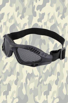 Очки для страйкбола - стальная сетка