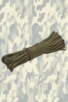 Паракордовый шнур - олива (25 метров)
