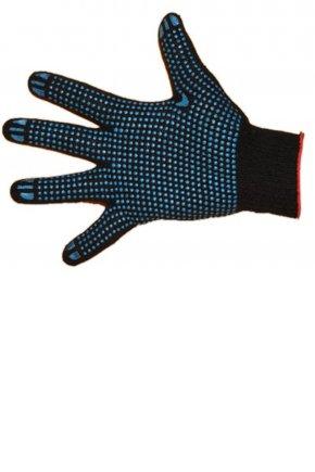 Перчатки 7 нитей с ПВХ (чёрные)