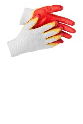 Перчатки 13 кл. х/б двойной облив.